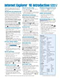 Internet Explorer 10 Introduction for Windows 8 Quick Reference Guide (Cheat Sheet of Instructions, Tips & Shortcuts - Laminated Card)