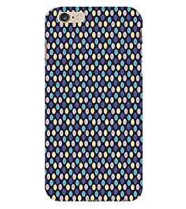 Blue Yellow Dots Pattern 3D Hard Polycarbonate Designer Back Case Cover for Apple iPhone 6