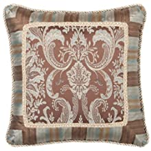 Jennifer Taylor Vellore Collection Pillow 18-Inch by 18-Inch