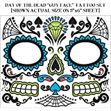 Day Of Dead Face Tattoos Male 74678
