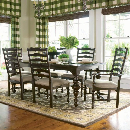 paula deen home paula 39 s rectangular leg dining table set by paula deen