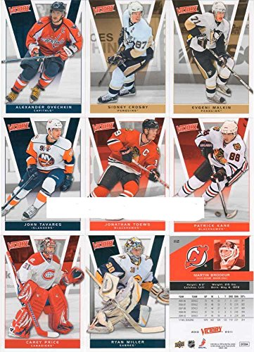 2010 / 2011 Upper Deck Victory Hockey Series Complete Mint Basic 200 Card Hand Collated Veteran Players Set (#1-200); It Was Never Issued in Factory Form. Includes Sidney Crosby, Alexander Ovechkin, Carey Price, Evgeni Malkin and More!