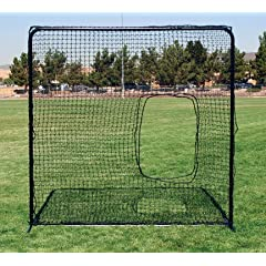 Buy Square Protective Screen with Softball Pitcher's Net by FallLine