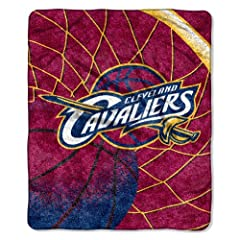 NBA Cleveland Cavaliers 50-Inch-by-60-Inch Sherpa on Sherpa Throw Blanket Reflect... by Northwest