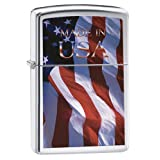 Zippo Made in USA Pocket Lighter, Brushed Chrome (Color: Brushed Chrome Made in USA, Tamaño: 5 1/2 x 3 1/2 cm)