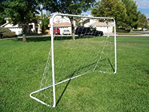Buy 2 Soccer Goals, 25mm Powder Coated Steel Tubes. 6' x 4' Each New. Each Goal Comes with Net and Anchoring Pegs. 6x4 by Petra