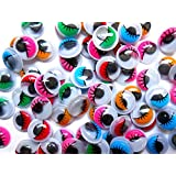 100 x 10mm Self Adhesive Coloured Moving Craft Eyes (Wiggly/Googly)