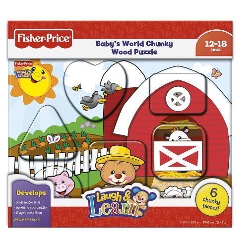 Fisher Price Baby's World Chunky Wood Puzzle (Color/Styles Vary)