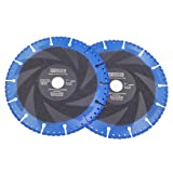 DT-DIATOOL 2pcs Metal Cutting Disc Diam 7 Inch - All Purpose Diamond Cut-Off Wheel for Steel Pipe Stone Reinforced Concrete Iron (Color: Black and Blue, Tamaño: 7 inch)