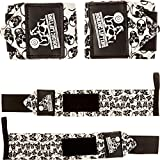 Wrist Wraps (1 Pair/2 Wraps) for Weightlifting/Crossfit/Powerlifting/Bodybuilding - For Women & Men - Premium Quality Equipment & Accessories for the Absolutely Best Hand Strength & Support Possible - Guard & Brace Your Wrists With this Gear to Avoid Injury During Weight Lifting - (Skulls) - 1 Year Warranty