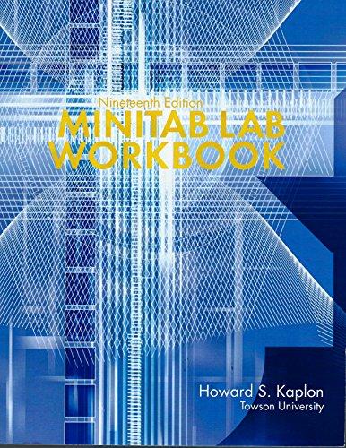 MINITAB LAB WORKBOOK-W/CD >CUS