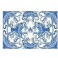 Caskata Studio 40 Count Paper Placemats, Blue Lucy