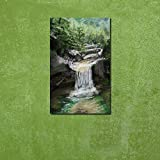 999Store Wooden Framed Abstract Waterfall Printed Poster Like Painting (40x25 Cm)