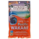 Emerald Cove Silver Grade Wakame (Dried Seaweed), 1.76 Ounce Bag