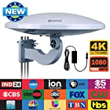 Outdoor TV Antenna -Antop Omni-Directional 360 Degree Reception Antenna Outdoor, Attic,RV Used, 65 Miles Range Amplifier Booster 4G LTE Filter, Waterproof, Anti-UV Easy Install (PL- (Color: Outdoor Omni-directional Antenna)