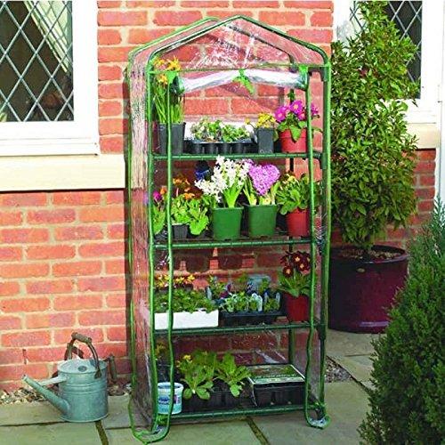 Home Grown Serra a 4ripiani in plastica in pvc con chiusura a zip, coltivazione piante da giardino struttura in acciaio