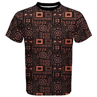 Black Aboriginal Art Indigenous African Patterns Seamless Men's Sport Mesh Tee
