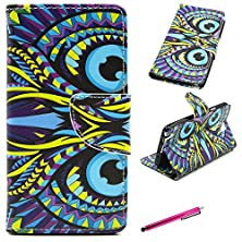buy Note 3 Case,Jcmax Premium Flip Pu Wallet Case With Card Slots And Stand Feature For Samsung Galaxy Note 3 Flim -[Animal Eye Pattern Design]