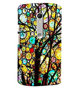 Omnam Colorfull Tree With Round Pattern Printed Designer Back Cover Case For Motorola Moto X Style