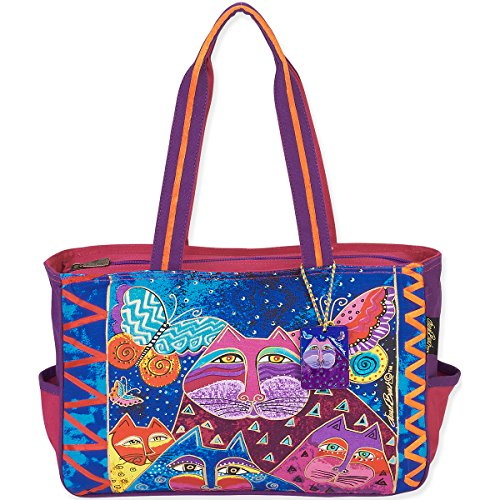 laurel-burch-laurel-burch-medium-tote-15-von-4-von-254-cm-katzen-mit-schmetterlinge