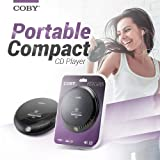 Coby Portable Compact Anti-Skip CD Player – Lightweight & Shockproof Music Disc Player w/ Pro-Quality Earbuds - For Kids & Adults - Home Car & Travel