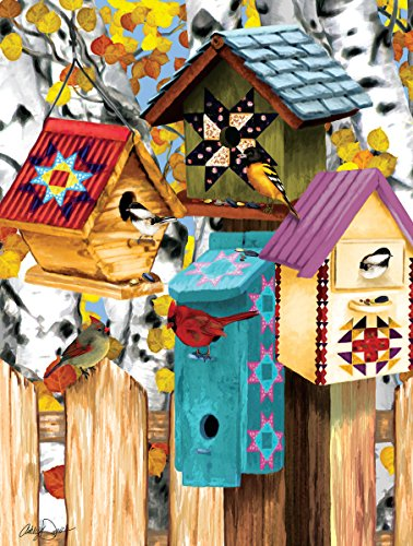 Fall Birdhouses 1000 Piece Jigsaw Puzzle by Sunsout Inc.