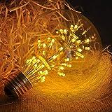 KINGSO ヴィンテージ レトロ エジソン電球 星 グローブスタイル LED バルブ ホーム照明 器具装飾用 調光器不対応 ガラス 電球色 E27 G95 3W 47ランプビーズ 110V-120V