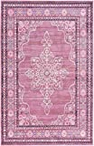 Modern 5-Feet by 8-Feet (5' x 8') Aria Pink Contemporary Area Rug