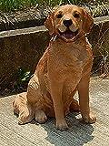 置物 吠えない 噛まない 安全で かわいい番犬に レトリバー 置き物