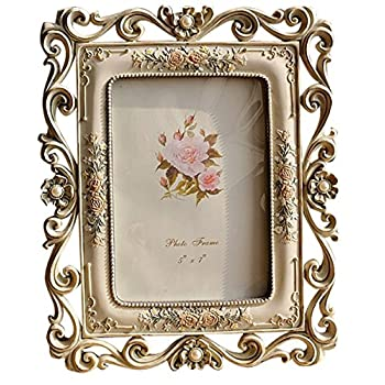 Gift Garden Vintage Picture Frame 5 by 7 -Inch Hollow up for Photo 5x7