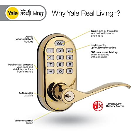 Yale Security YRL-210-ZW-619 Real Living Electronic Push Button