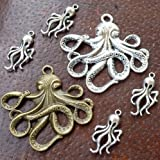 6pcs Scrapbook Steampunk Antique Bronze Brass Silver Jewelry Findings Mix Lot 30