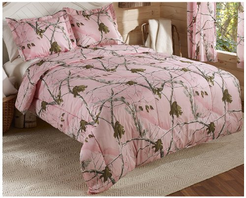 Real Tree AP Mini Comforter Set Queen Pink Camo Compare