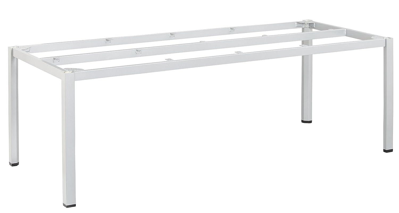 KETTLER Advantage Esstische Cubic-Tischgestell 220 x 95 cm Silber