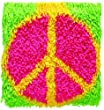 Wonderart Shaggy Peace Sign Latch Hook Kit, 12\
