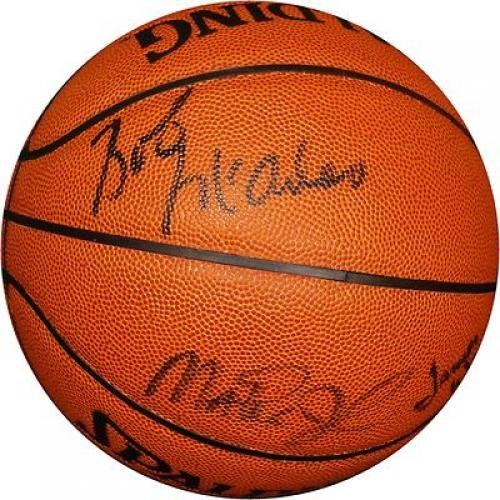 Signed Magic Johnson Ball - Wilkes Scott Copper Mcadoo Green Showtime - Autographed Basketballs