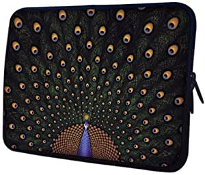 MyGift 13 inch Fascinating Peacock Notebook Laptop Sleeve Bag Carrying Case for most of MacBook, Acer, ASUS, Dell, HP, Lenovo, Sony, Toshiba