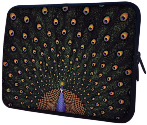 MyGift 13 inch Fascinating Peacock Notebook Laptop