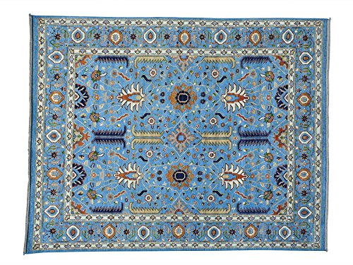 8'x10' All Over Design Serapi Heriz Pure Wool Hand Knotted Oriental Rug sh24914