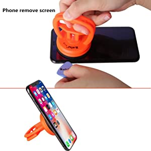 Kaisiking Heavy Duty Suction Cups 2 Pcs Screen Suction Cup Phone Computer Screen Repair Tools Compatible for iPad, iMac, MacBook, Tablet, Laptop, iPhone, Samsung, Huawei Etc. LCD Screen Opening Tool (Color: Suction cups)