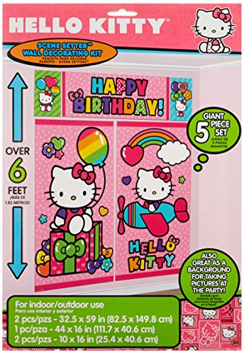 Hello-Kitty-Rainbow-Scene-Setters-Wall-Decorating-Kit-Birthday-Party-Decoration-5-Pack-Multi-Color-146-x-104
