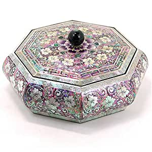 Amazon.com: Silver J Wooden keepsake box, mother of pearl