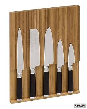 support mural aimant en en bambou pour couteaux de cuisine cuisine cuisine cuisine. Black Bedroom Furniture Sets. Home Design Ideas