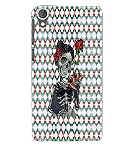 PrintDhaba Skeleton D-3545 Back Case Cover for HTC DESIRE 820 (Multi-Coloured)