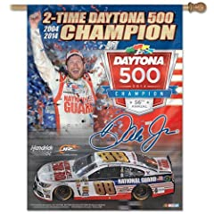 Dale Earnhardt Jr Banner vertical flag 27 x 37 by NASCAR