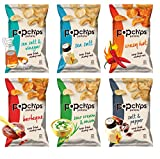 Popchips Potato Chips, 6 Flavor Variety Count, 0.8 Ounce