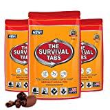 Survival Tabs - 1-Day Food Supply - Emergency Survival Food MRE for Outdoor Activities Camping Biking Climbing Also for Disaster Preparedness such as Earthquake Flood Hurricane Tornado Gluten-Free, Non-GMO The Survival Tabs 25 Years Shelf Life (3 pouches x 4 tablets = 12 Tablets/Chocolate)