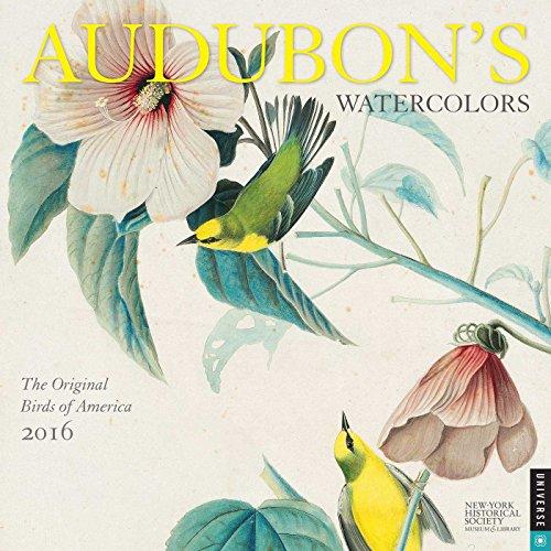 Audubon's Watercolors 2016 Wall Calendar: The Original Birds of America - New-York Historical Society