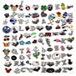 Goodlucky365 100pcs Mixed Random Floating Charms for Glass Living Memory Lockets DIY Wholesale
