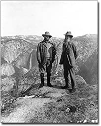 Teddy Roosevelt and John Muir Yosemite 1906 8x10 Silver Halide Photo Print